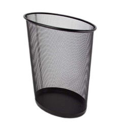Oblique Trash Can Black