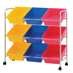 9 Plastic Drawer Storage Cart | plastic storage drawers | storage cart | rolling storage cart | plastic drawers