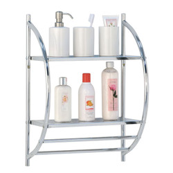 2 Tier Metal Shelf Wall Rack | wall shelves | wall mounted shelves | wall shelving | bathroom shelves