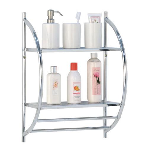 2 Tier Metal Shelf Wall Rack   wall shelves   wall mounted shelves   wall shelving   bathroom shelves