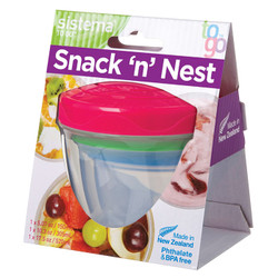 Snack & Nest To Go, 3 pack.