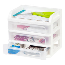 Mini 3 Drawer Organizer filled with accessories.