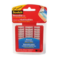 Scotch Reusable Tabs Clear.