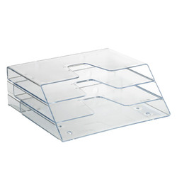 3 Tier Crystal File Organizer. Can stand vertically or be wall mounted.