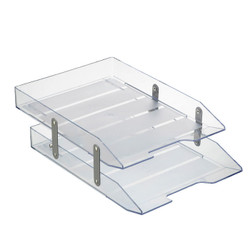 Double Letter Tray Crystal. Features metal rods that help it remain stable and safer for handling.