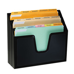 Black 3 Tier File Organize. Can stand vertically or be wall mounted.