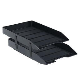 Double letter tray black.