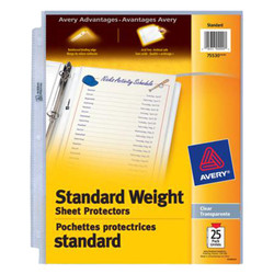 Avery sheet protector 25 pack. Non-stick protectors made from polypropylene.