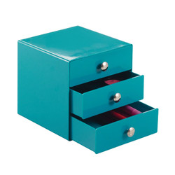 THREE DRAWER ORGANIZER, Teal