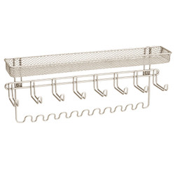 Classico Jewelry Organizer, Wallmount. It features 19 hooks and made out of steel with rustproof satin finish.