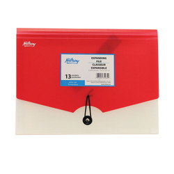 Red Hilroy Expand Pocket File.