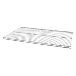 16 x 72 Inches Ventilated Profile Metal Shelf in Nickel