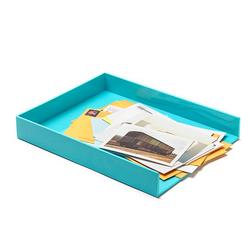 Poppin® Letter Tray in Aqua