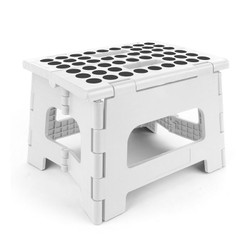 Constructed with anti slip rubber feet, this step stool is certified tested to hold up to 300 pounds of flat weight. Small white: 24.1 x 21.5 x 31 cm