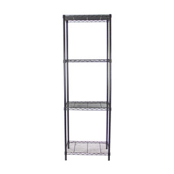 Black Adjustable 4 Shelf Kit - 18 x 24 Inches