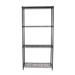 Black Adjustable 4 Shelf Kit - 14 x 48 Inches