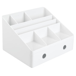 Linus Desk Organizer with Drawers in White