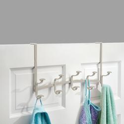 Spa Over Door Rack with 5 Hooks in Satin