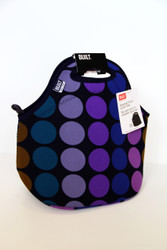 GOURMET LUNCH TOTE PLUM DOT