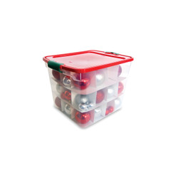 HOLIDAY ORNAMENT STORAGE 31QT
