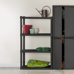 Four Shelf Unit - Grey