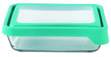 6Cup Rectangle Teal Infusion TrueSeal Food Storage