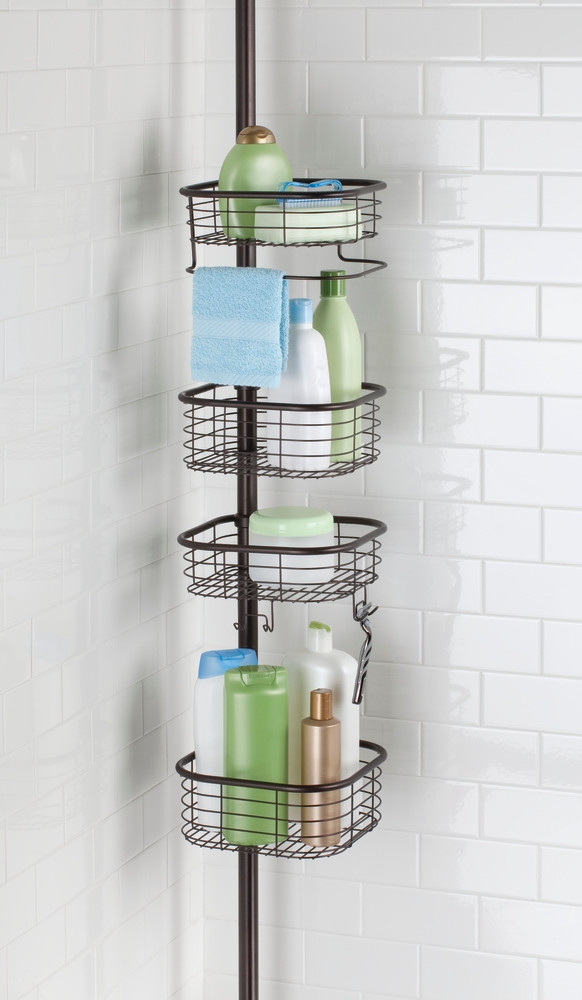 forma tension caddy square solutions your organized ForPorte Gel Douche Mural