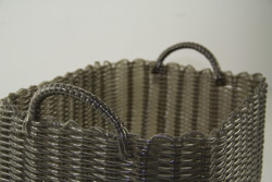 HEARTH BASKET DARK BROWN