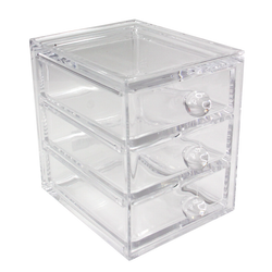 Acrylic Three Drawer Organizer Narrow