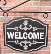 Personalize This Sign Shape - Fancy Welcome