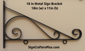 18 Inch Metal Sign Bracket