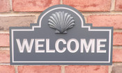 PVC Welcome Sign with 3D Seashell.
