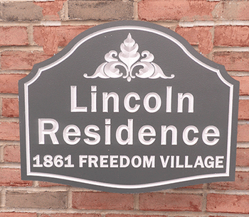 Personalize This Sign - Lincoln Residence - SHAPE F