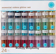 24 Pack GLITTER COLLECTION 24 Rich Essentials Martha Stewart Crafts 40-34067 NEW