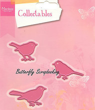 3 Bird Set Steel Dies by Marianne Design Creatables Dies COL1311 New