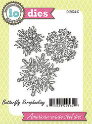 3 Snowflakes American made Steel Dies by Impression Obsession DIE024-X New