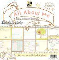 ALL ABOUT ME 12X12 Scrapbooking Paper Pad 48 Sheets New by DCWV