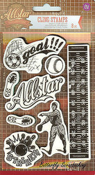 Allstar Collection, Cling Unmounted Rubber Stamp PRIMA MARKETING INC. - 569655