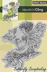 Angel of Peace, Cling Style Unmounted Rubber Stamp PENNY BLACK - NEW, 40-156