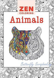 ANIMAL DESIGNS ZEN Coloring Book For Markers, Colored Pencils Guild Master New