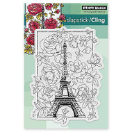 April In Paris, Cling Style Unmounted Rubber Stamp PENNY BLACK - NEW, 40-383