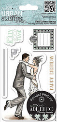 Art Deco Dancers Cling Unmounted Rubber Stamps Set Urban Stamps PMA 907185 NEW