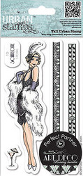 Art Deco Flapper Cling Unmounted Rubber Stamps Set Urban Stamps PMA 907184 NEW