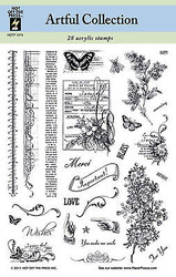 ARTFUL COLLECTION 28 Stamps Clear Unmounted Rubber Stamps Set HOTP-1074 New