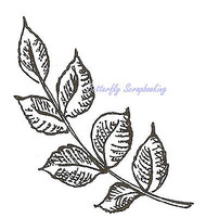 Ash Leaf Wood Mounted Rubber Stamp Northwoods Rubber Stamp New