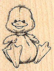BABY DUCK Small Wood Mounted Rubber Stamp by INKADINKADO 96472 NEW