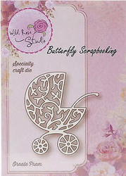 Baby Ornate Pram Creative Steel Die Cutting Dies WILD ROSE STUDIO SD040 New