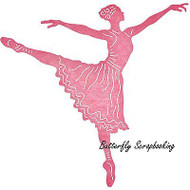 BALLERINA BALLET DANCE Die Steel Die Cutting Die CHEERY LYNN DESIGNS B568 New