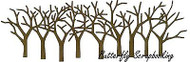 Bare Tree Border Craft Steel Die Cutting Die Impression Obsession DIE309-Y New