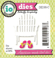 Beach Chair Flip Flop American made Steel Dies Impression Obsession DIE190-C New
